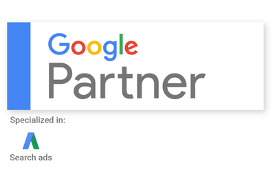Google Partner, specialized in Search Ads, Logo